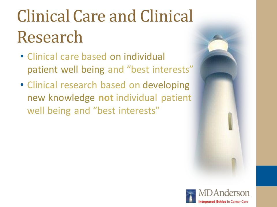 Clinical Care and Clinical Research