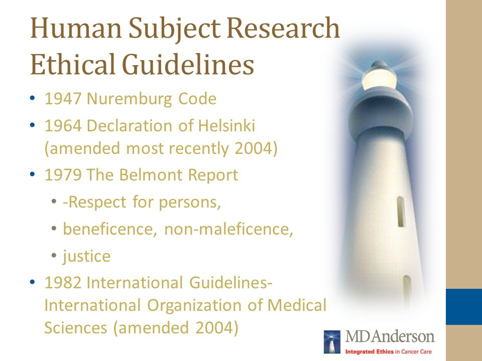 Human Subject Research Ethical Guidelines