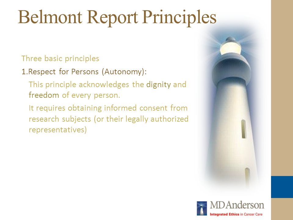 Belmont Report Principles