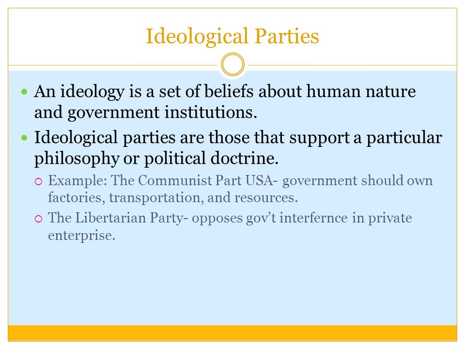 ideology and political party