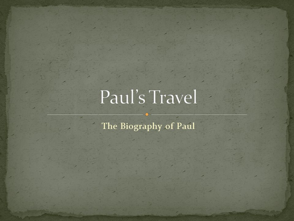A Biographical Study of Paul - digitalcommons.liberty.edu
