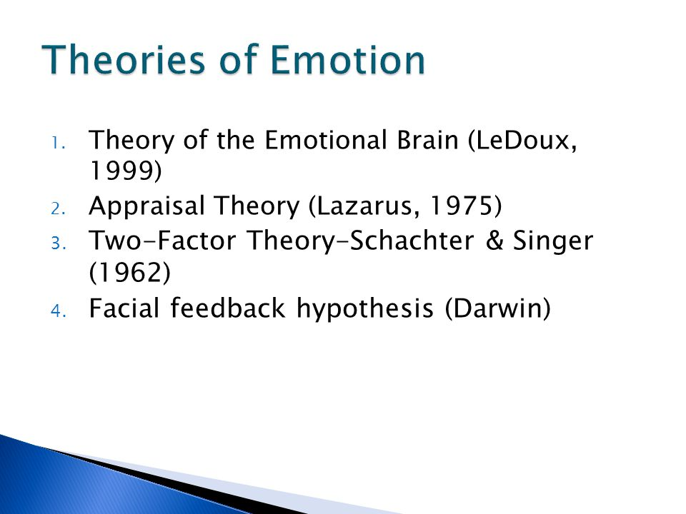 darwin theory of emotions Darwin's work of 1872 still provides the point of departure for research in the theory of emotion and expression although he lacked the modern research tool of cybernetics, his basic.