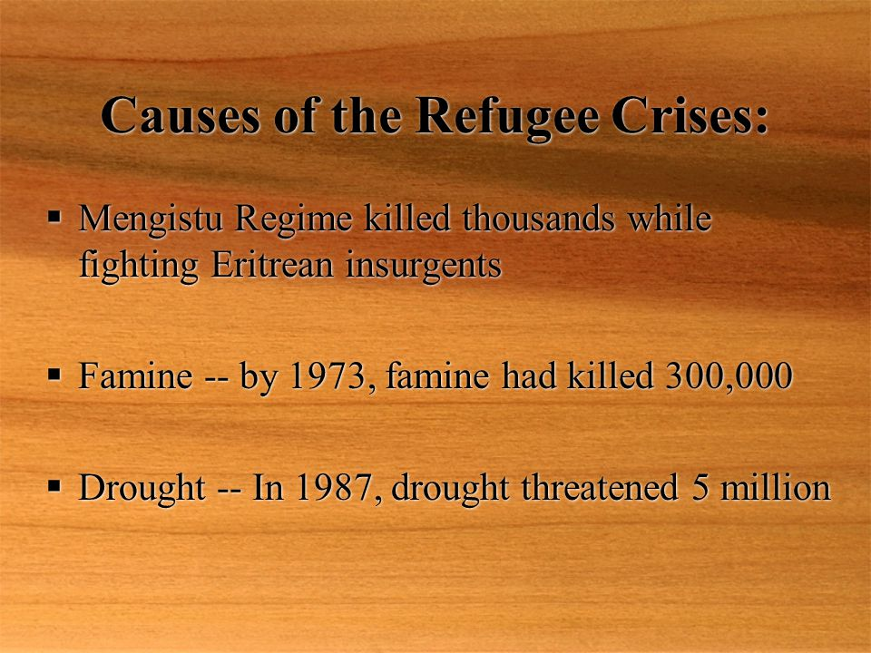 Causes of the Refugee Crises: