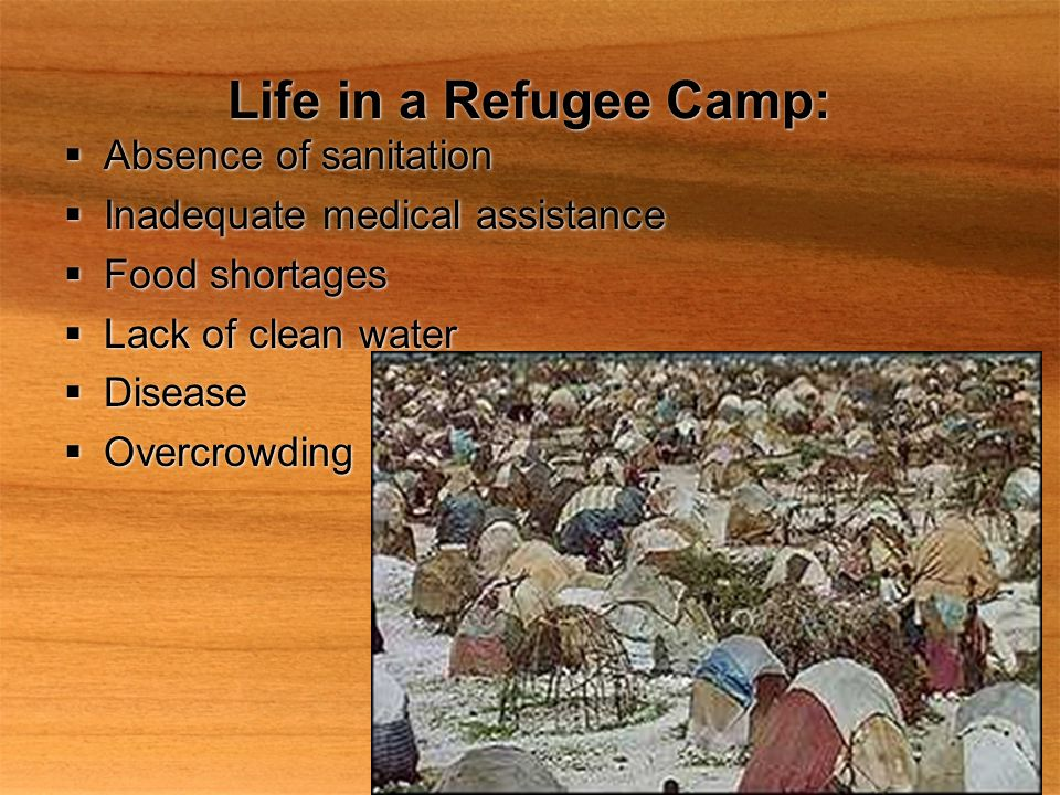Life in a Refugee Camp: Absence of sanitation