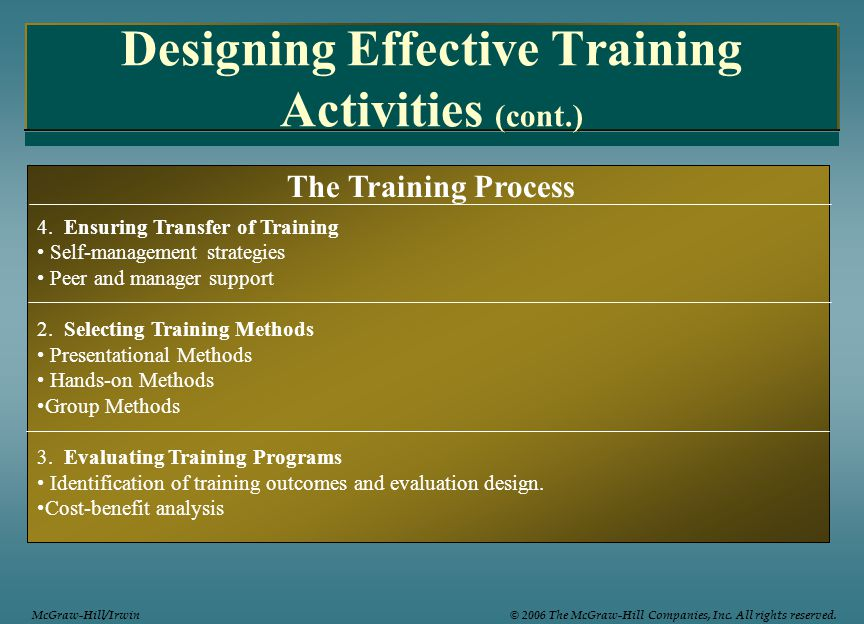 training evaluation new techniques and strategies Evaluation of training enroll in instructional techniques for new instructors 1 an easy-to-use 6-step strategy for structuring your courses.