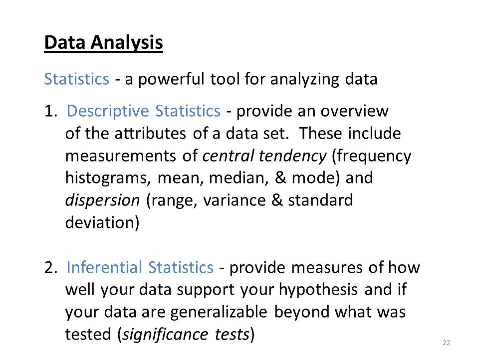 Data Analysis Statistics - a powerful tool for analyzing data
