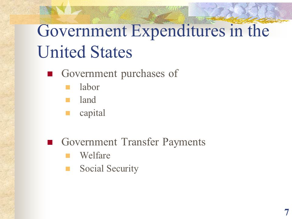 Government Expenditures in the United States