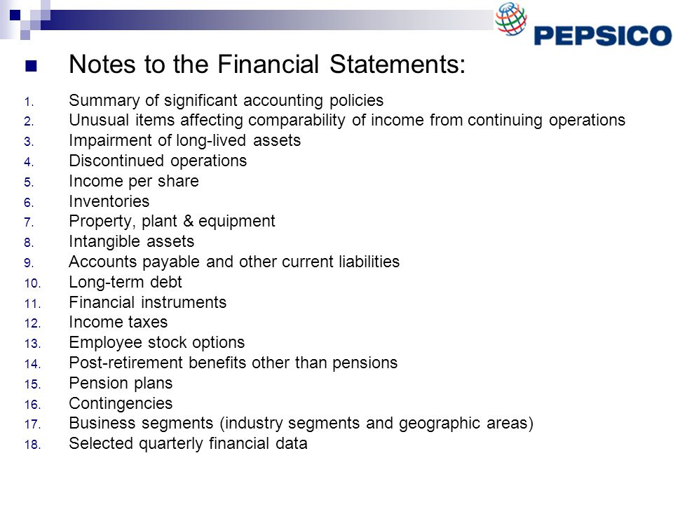 Employee stock options financial statements