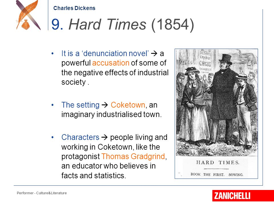 a literary analysis of the novel hard times by charles dickens The scene of dickens' hard times is an imaginary industrial town called coketown  literary terms  hard times as a social novel biography of charles dickens.