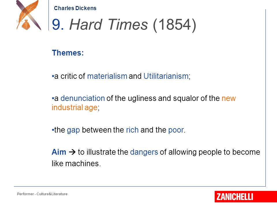 an analysis of the themes in hard times by charles dickens Hard times: gcse york notes charles dickens  and analysis of key characters including thomas gradgrind and josiah bounderby, and themes such as.