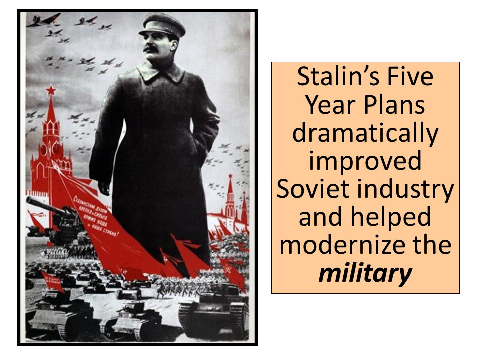 stalin and his five year plan Start studying ibg his - stalin's 5 year plans / economic learn vocabulary, terms, and more with flashcards, games, and other study tools.