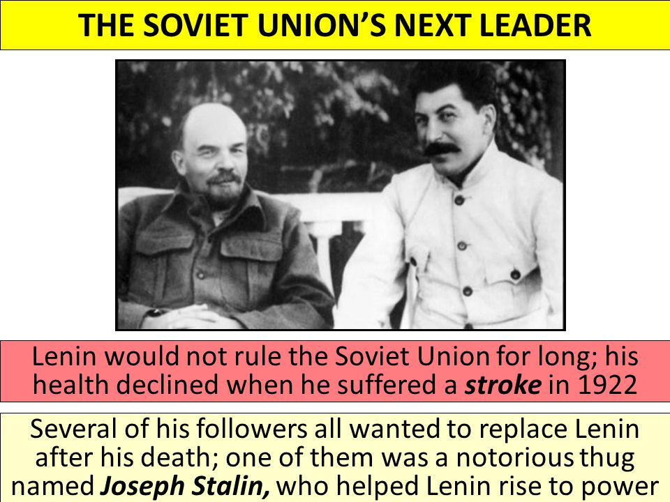 the soviet union and the rule Most of the peasants in russia in the nineteenth century were forced to confront poverty, young joseph stalin was no exception however, he battled against this hollow factor and rose to become one of the greatest communist revolutionaries and powerful ruler of the former soviet union.