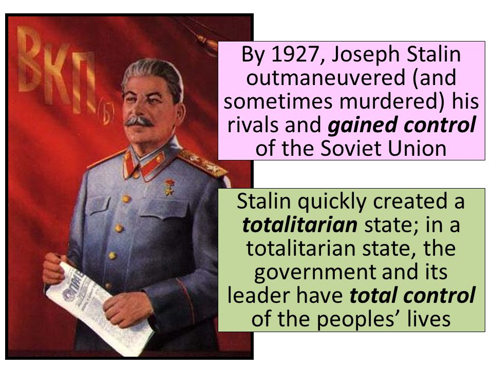 An analysis of the socialist soviet union in the revolution by joseph stalin