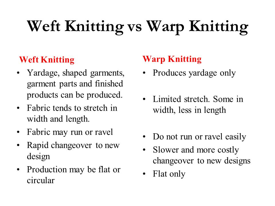 Fabric Knitting Process : Warp knitting ppt video online download