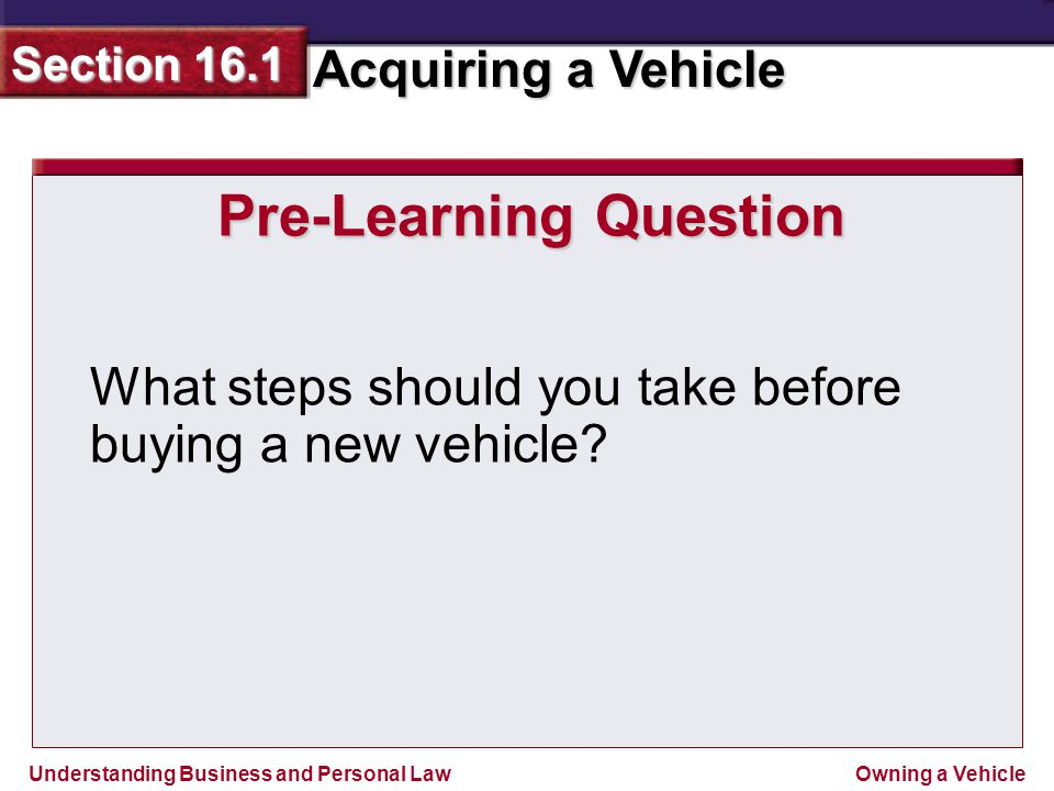 Pre-Learning Question
