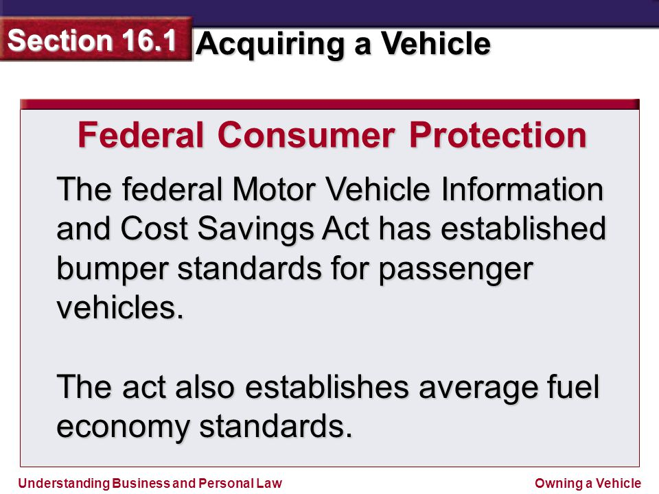 Federal Consumer Protection