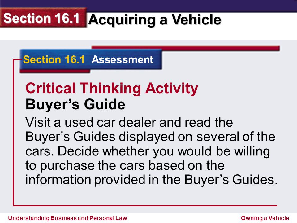 Critical Thinking Activity Buyer's Guide
