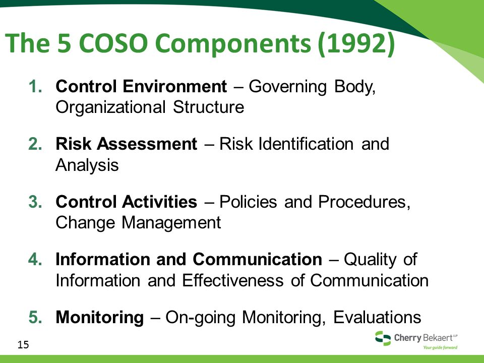 the effective of coso The internal control questionnaire and assessment an effective system of internal control (coso) and presented in.