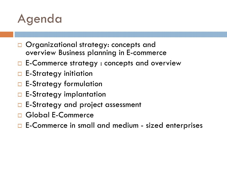 ECommerce Strategy And Global Ec  Ppt Video Online Download