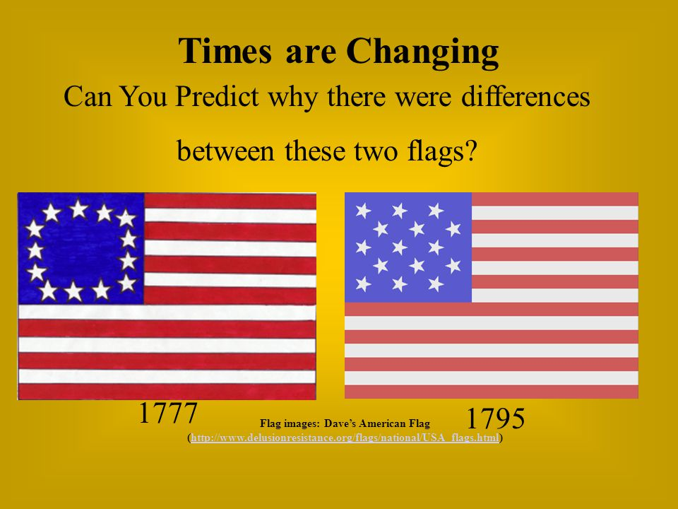 flags timeline