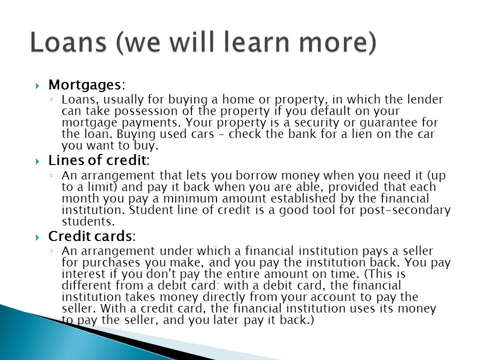 Banking services life transitions ppt video online download for Need loan to buy land
