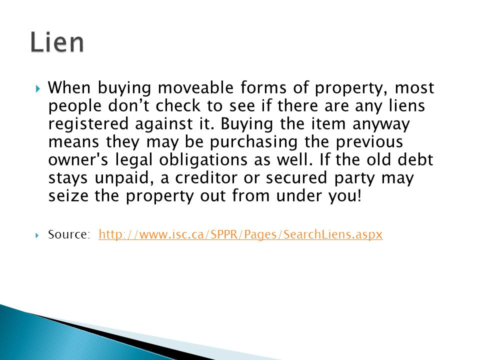 how to see if a property has a lien