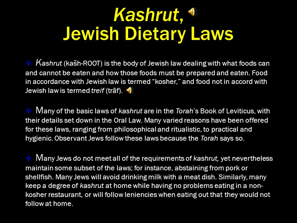 Why Keep Kosher?