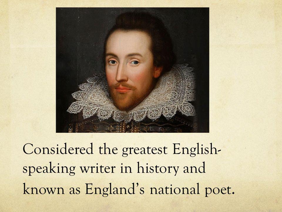 william shakespeare english