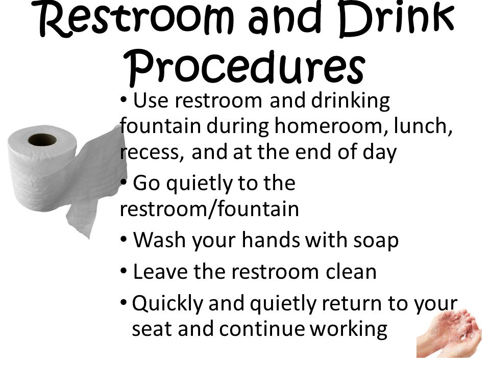 Team r expectations ppt video online download for Bathroom cleaning procedure