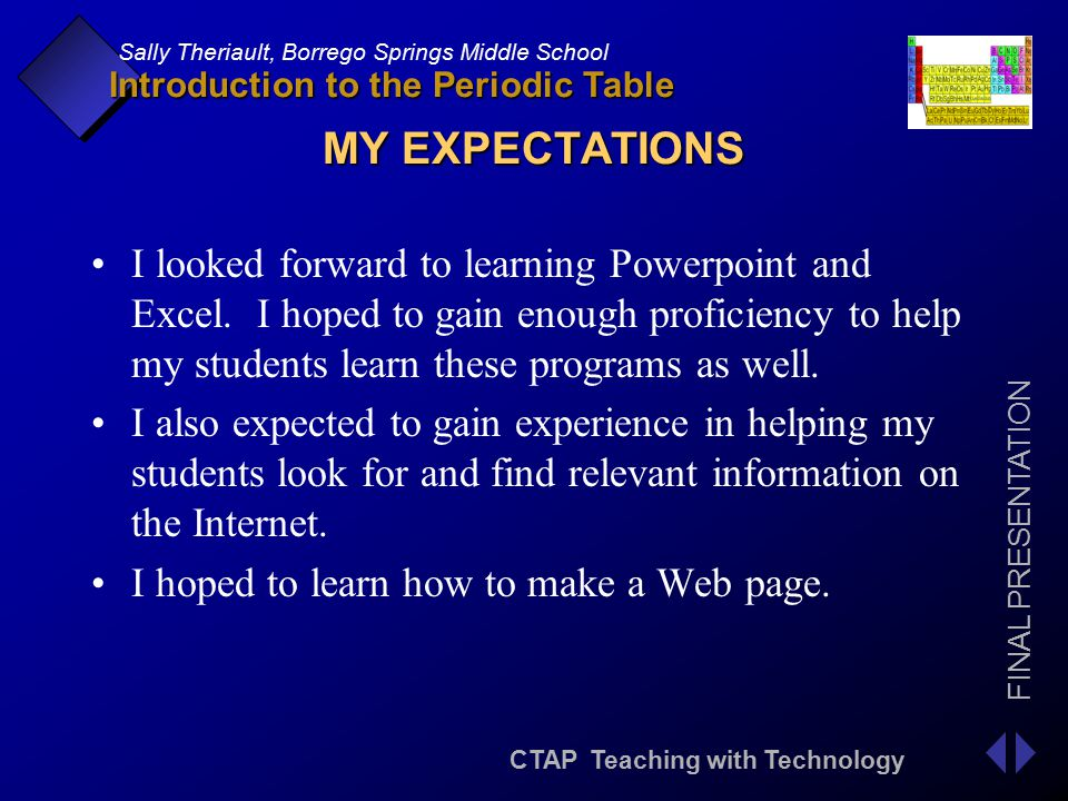Introduction to the periodic table ppt download 4 my expectations urtaz Gallery