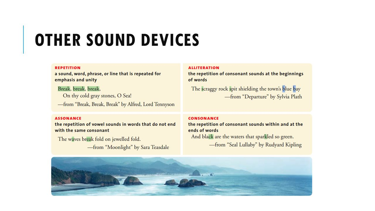 Other sound devices