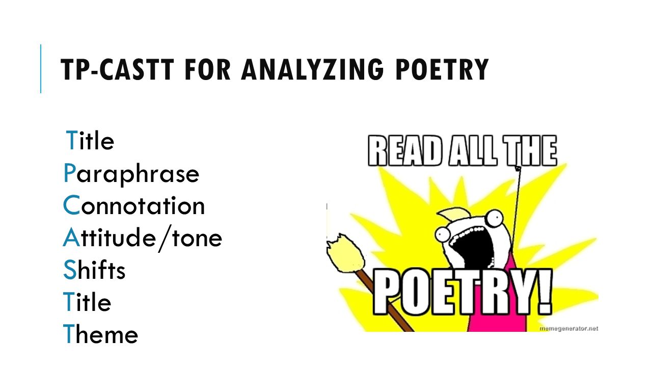 Tp-castt for analyzing poetry