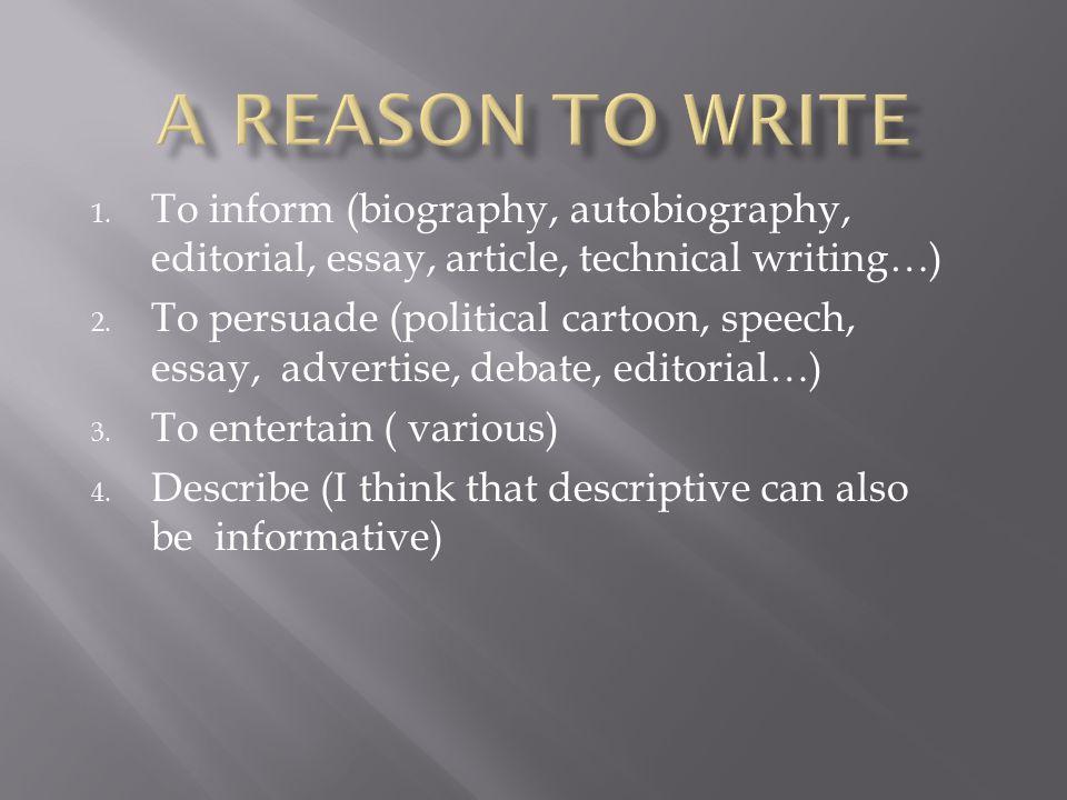 Is a bio essay an informative essay