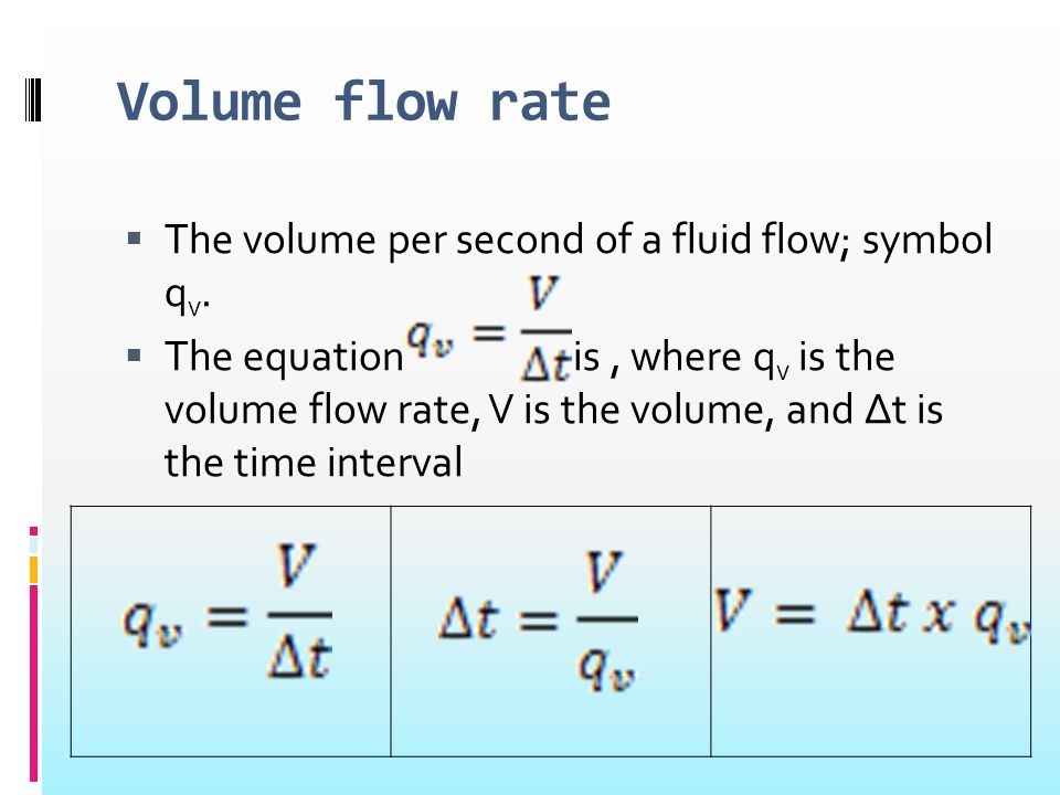 Mass Flow & Density to Volume Flow Calculator