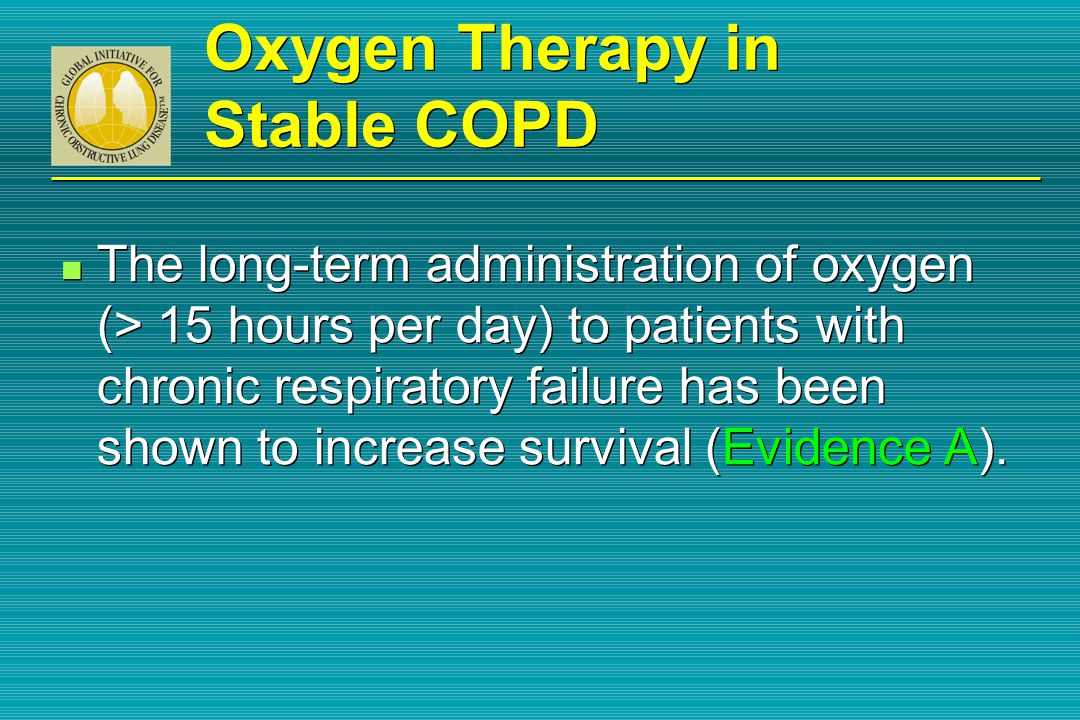 oxygen therapy for copd pdf