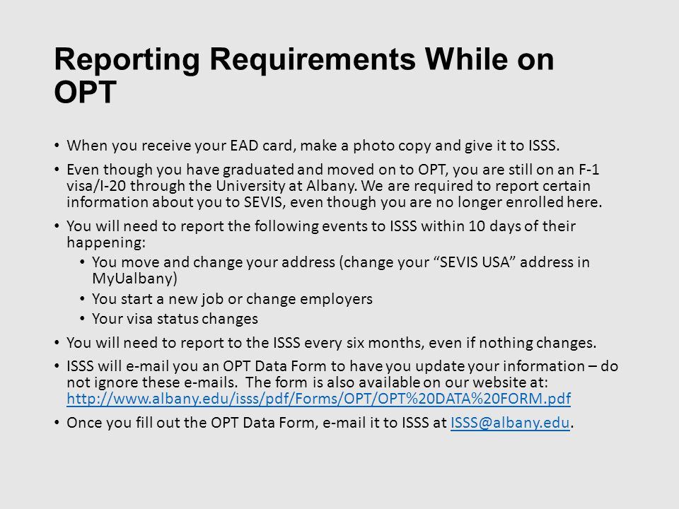 Optional Practical Training (OPT) Workshop - ppt download