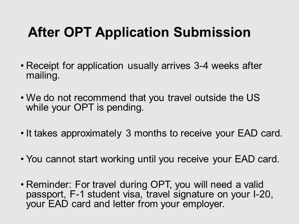 Can An Opt Student Travel Outside Of Us