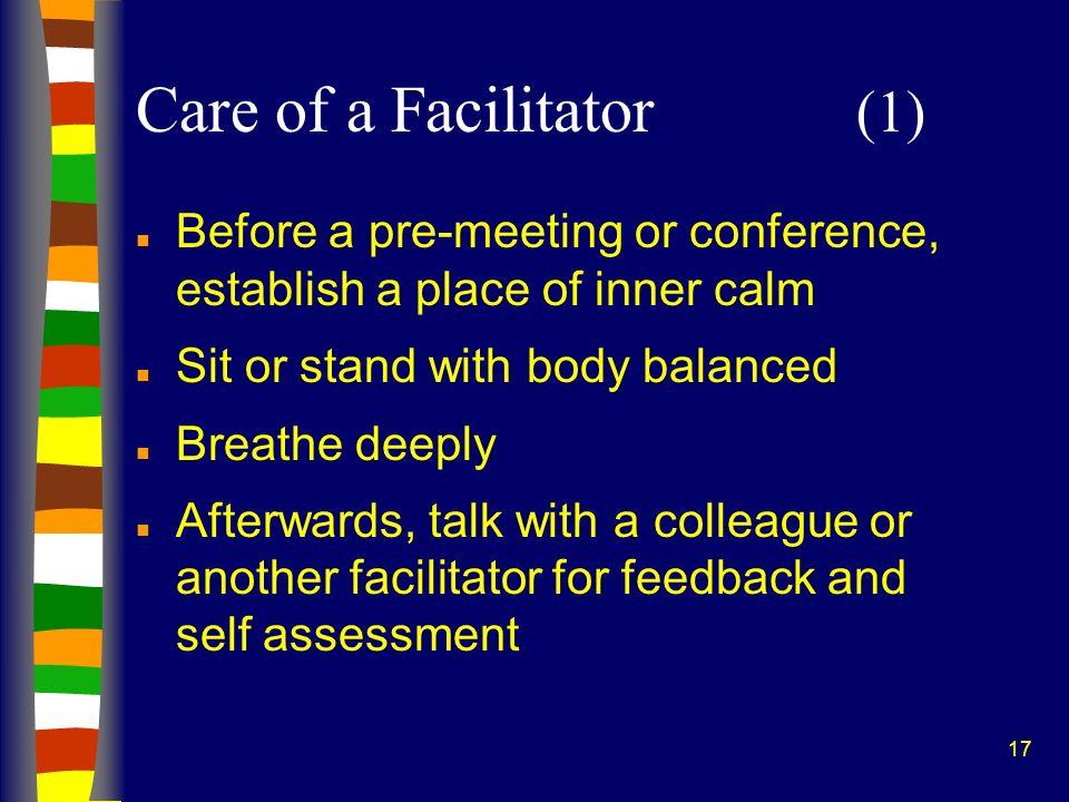 Care of a Facilitator (1)