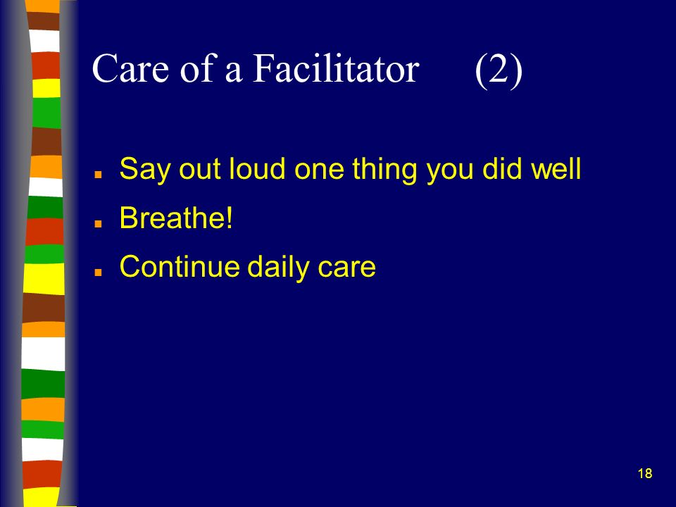 Care of a Facilitator (2)