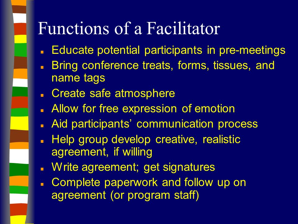 Functions of a Facilitator