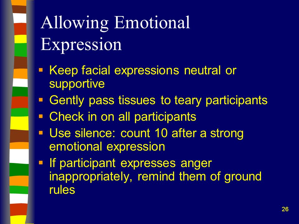 Allowing Emotional Expression