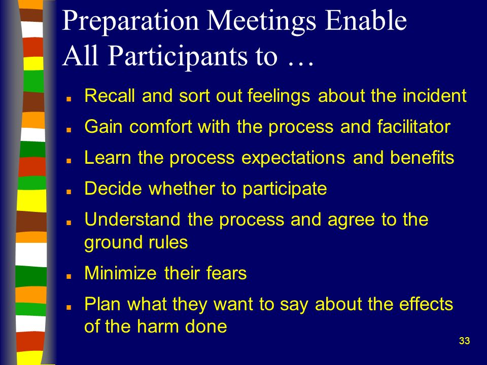 Preparation Meetings Enable All Participants to …