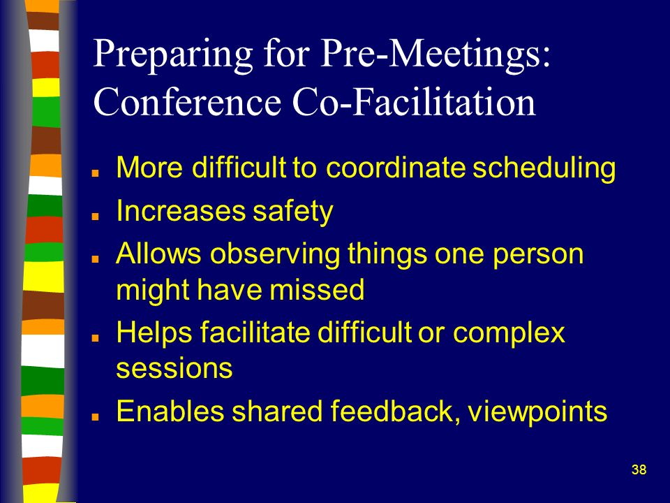 Preparing for Pre-Meetings: Conference Co-Facilitation