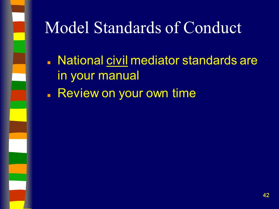 Model Standards of Conduct