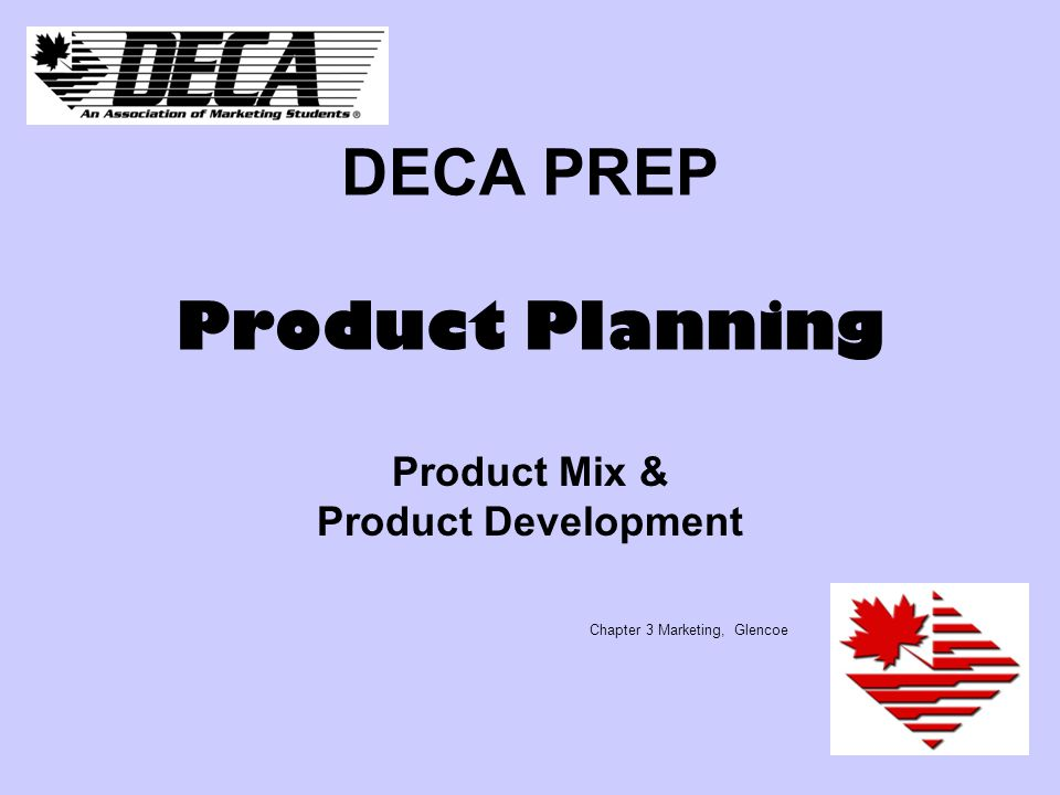 Deca Prep Product Planning Ppt Video Online Download