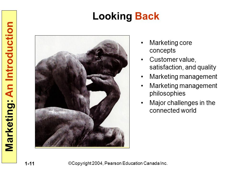 Looking Back Marketing core concepts