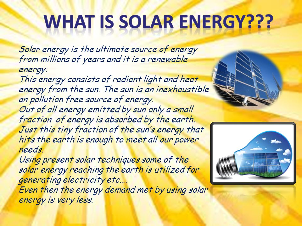 Physics Energy Flow and Conservation of resources SOLAR ...