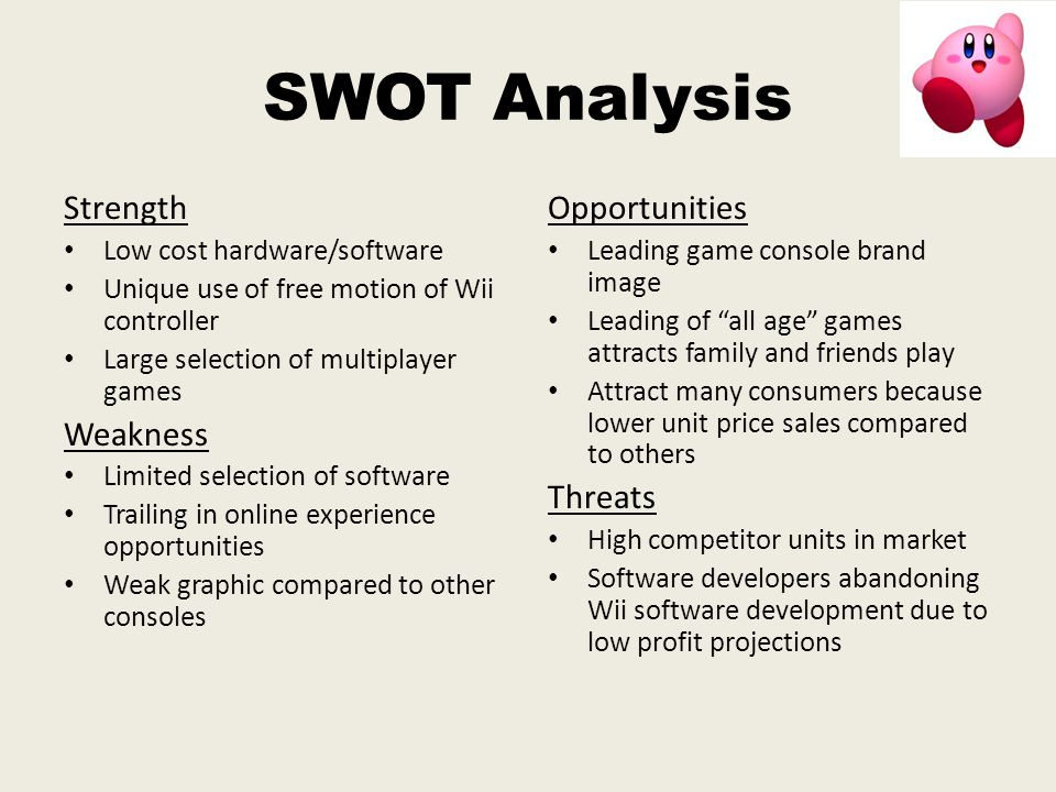 swot analysis for online gaming Swot analysis swot analysis activision blizzard including swot analysis weaknesses reliance on few game titles for majority of revenues activision blizzard derives significant portion of revenues historically the company's leading online gaming franchisees include call of duty.