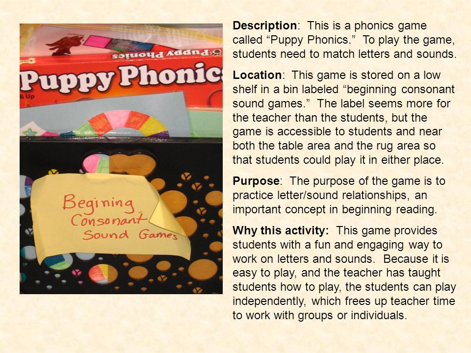 Description: This is a phonics game called Puppy Phonics