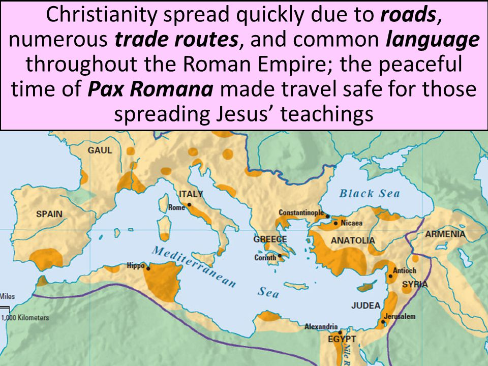 the spread of christianity and other religions during the roman empire Rise and spread of christianity terms christianity is made the official religion of the roman empire, banning other forms during the 400sad the bishop of rome.